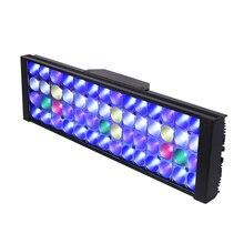 Luz conduzida marinha lâmpada do aquário luzes led para o aquário conduziu a iluminação do tanque de peixes luzes mais remoter decoração do aquário luz