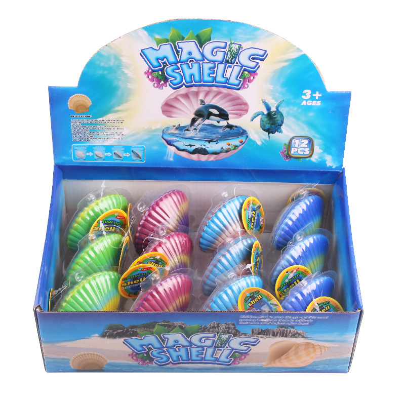 Customizable Bubble Water Expansion Will Hatch Oceans Animal Scallop Children Creative Novelty Toy