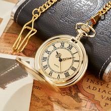 Antique Steampunk Vintage Roman Numerals Quartz Pocket Watch Multicolor Case Necklace Pendant Clock Chain Men