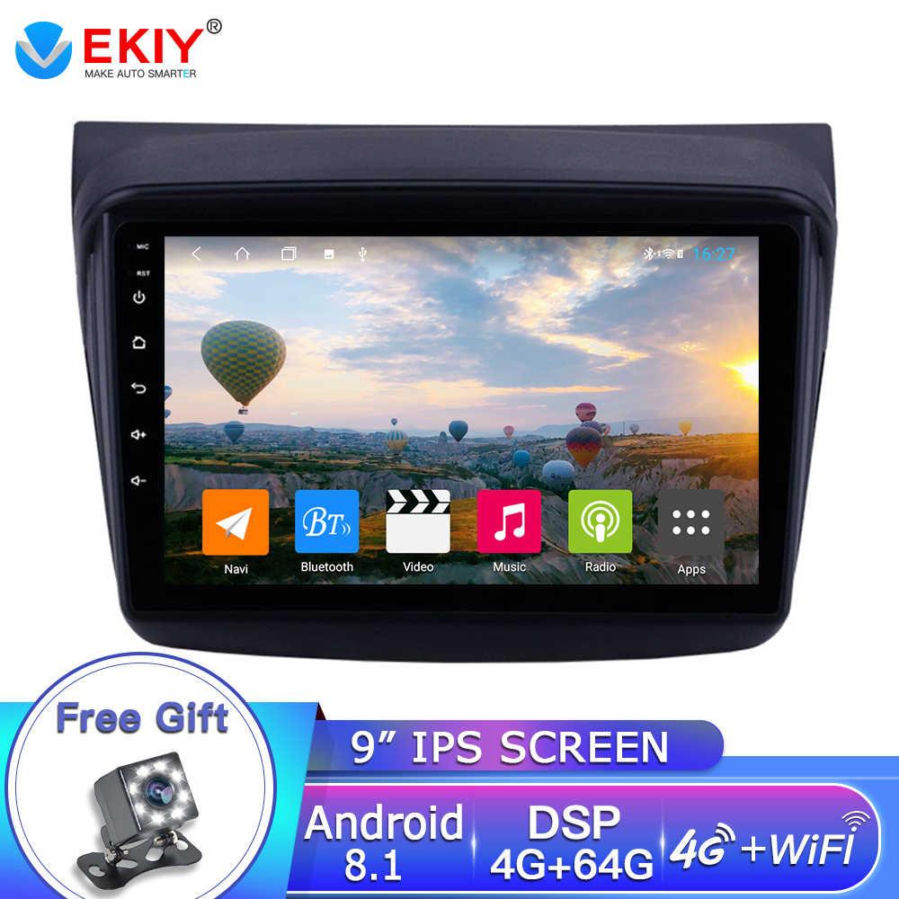 Ekiy 9 ''Auto Multimedia Speler 2din Android 8.1 Auto Gps Radio Voor Mitsubishi Pajero Sport/L200/2006 + Triton/2008 + Pajero 2010