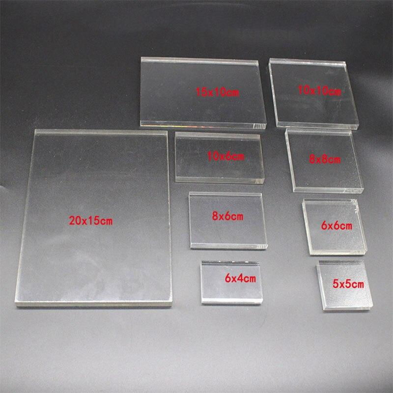 Sellos transparentes de goma para regalo de profesores de varios tamaños, accesorios de Carimbo, lámina acrílica para Sellos silicona, scrapbooking Nuevos
