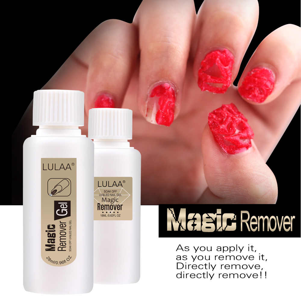 LULAA 18/28ML UV Gel Nagellak Burst Magic nagellak Remover effectief remover Kleverige nagellak gel nail Ontvetter TSLM1