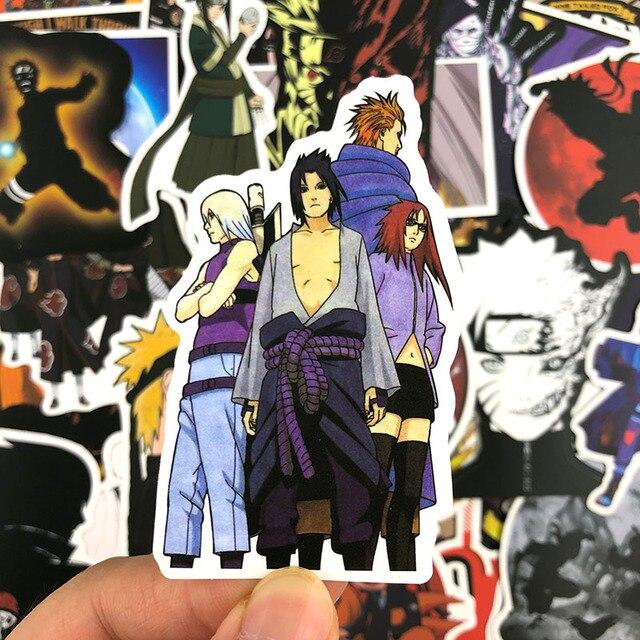 50-100 Pcs/Pack japonais Anime Graffiti autocollants Naruto autocollants pour bagages ordinateur portable réfrigérateur moto planche à roulettes Pegatinas