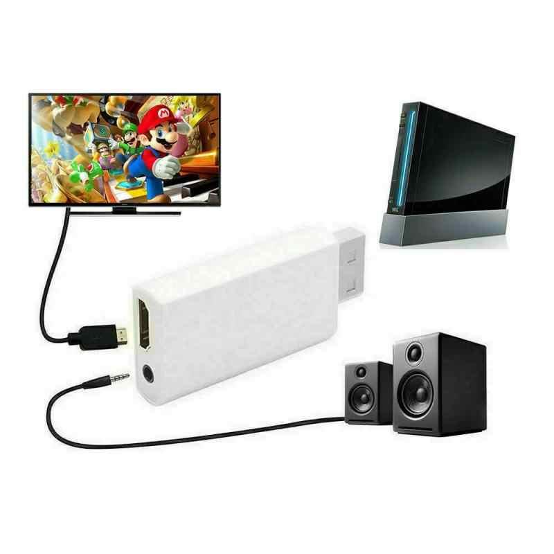 Портативный Wii к HDMI Wii 2HDMI Full HD конвертер аудио выход адаптер ТВ высокой четкости выход белый аудио аксессуары