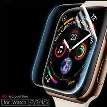 Protetor de tela clara cobertura completa película protetora para iwatch 4 5 40mm 44mm não vidro temperado para apple watch 3 2 1 38mm 42mm