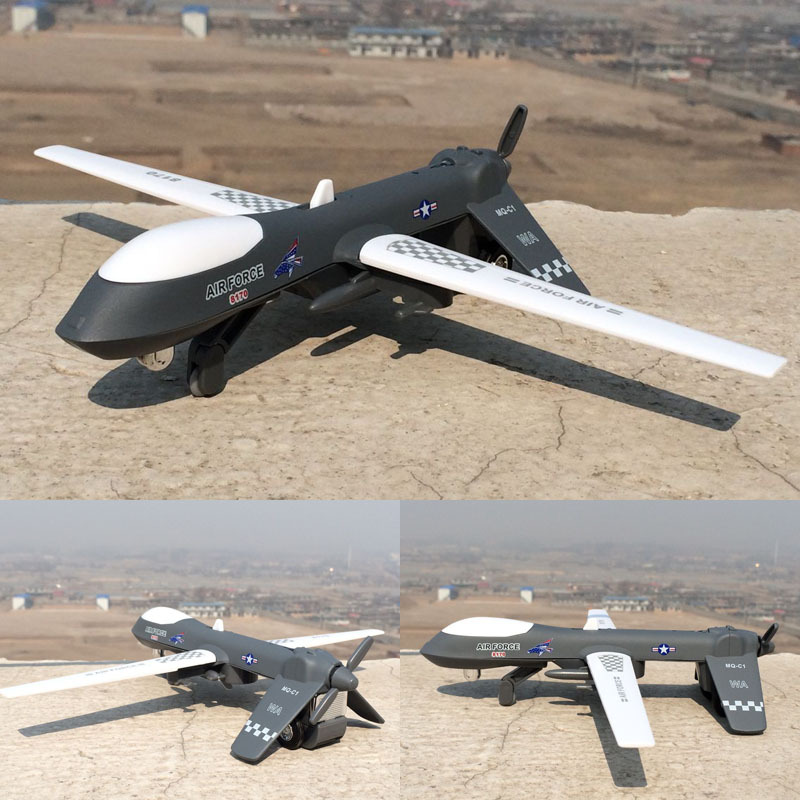 Diyaduo America Pterosaur Unmanned Aerial Vehicle Reconnaissance Aircraft Spy Airplane Alloy Sound And Light Warrior Model Toy