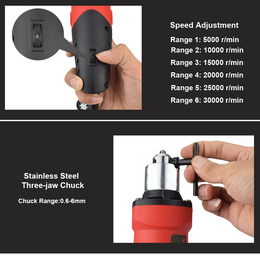 NEWACALOX EU 480W Variabler Geschwindigkeit Mini Elektrische Bohrer Schleifen Maschine Grinder Set Dremel Dreh Werkzeug mit Gravur Zubehör