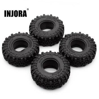 "4PCS 1.9"" Rubber Tyre / Wheel Tires for 1:10 RC Rock Crawler Axial SCX10 90046 AXI03007 Tamiya CC01 D90 D110 1"