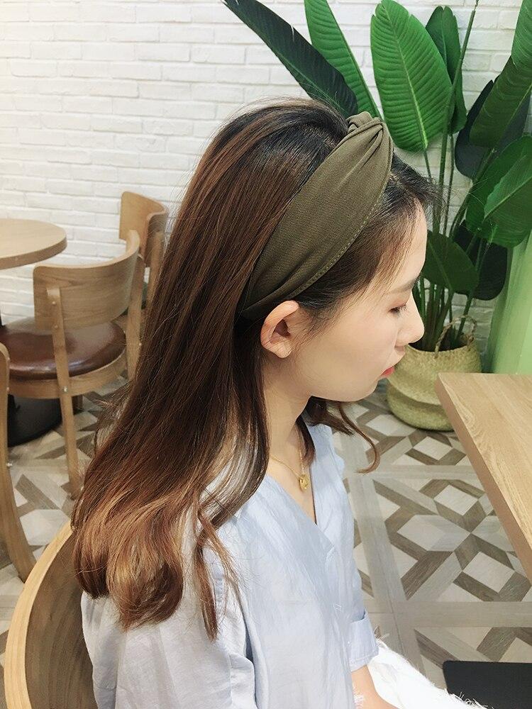 Cruz Headband Colore Puro Amarrar UM Nó