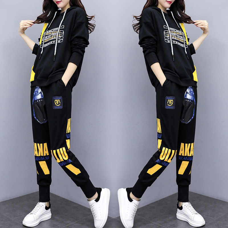 Women's Hoodies Wear 2020 Spring Sports Suit 2 Piece Set Women Top And Pants Tracksuit For Women Suit Fashion