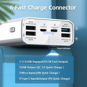 """Image 3 - כוח בנק 40000mah QC 3.0 פ""""ד 18W דו כיוונית מהיר תשלום בנק Power12V Powerbank עבור מחשב נייד/מחברת כוח בנק עבור IPhone 12"""