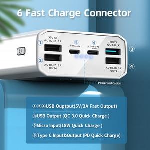 Image 3 - Power Bank 40000mah QC 3.0 PD 18W dwukierunkowy szybki Bank ładowania Power12V Powerbank do laptopa/notebooka Power Bank dla IPhone 12