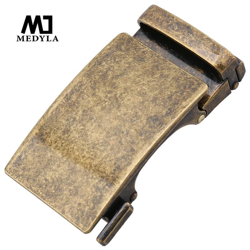 MEDYLA Retro Automatic Buckle Hard Metal Retro Copper Men's Belt Buckle Inner Diameter 3.6cm Simple Belt Buckle Men Gift