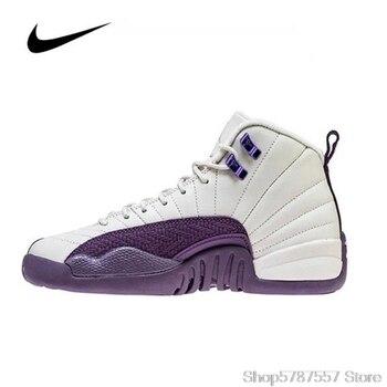 Original Nike Air Jordan 12 (GS) 510815-001 Women's Jordan Shoes Basketball Shoes High-top Jordan Shoes Sneakers