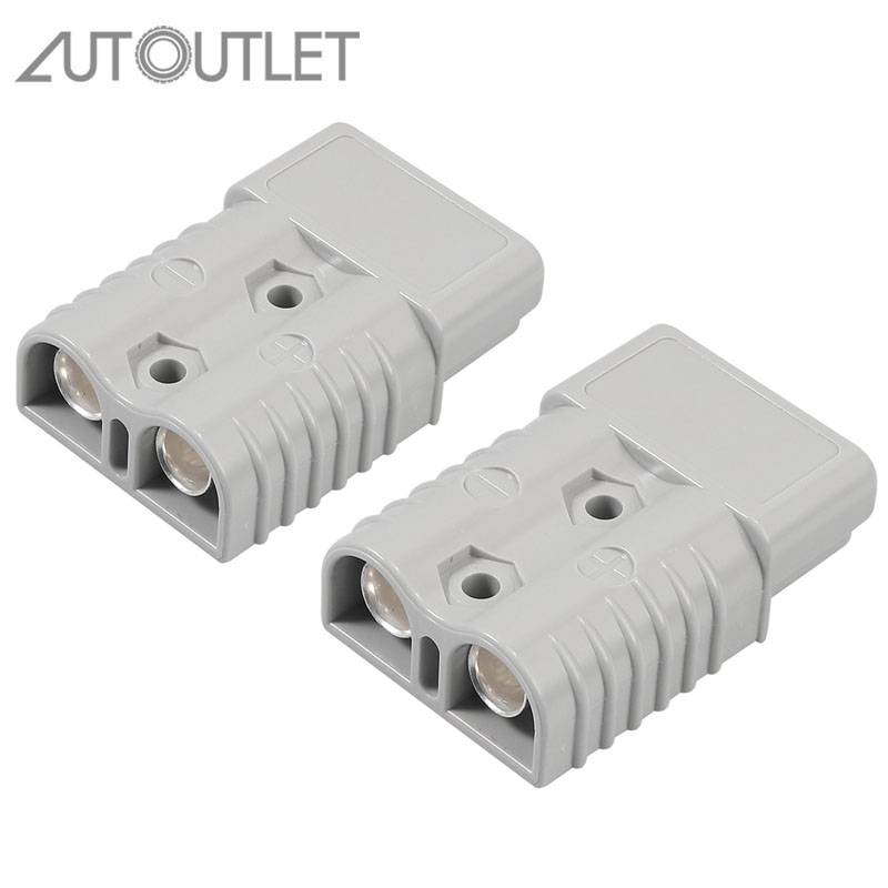 AUTOUTLET 2 Pcs For Anderson Style Plug Connectors 175A 600V 1/0 AWG AC/DC Power Tool For AWG Plated Solid Copper Terminals