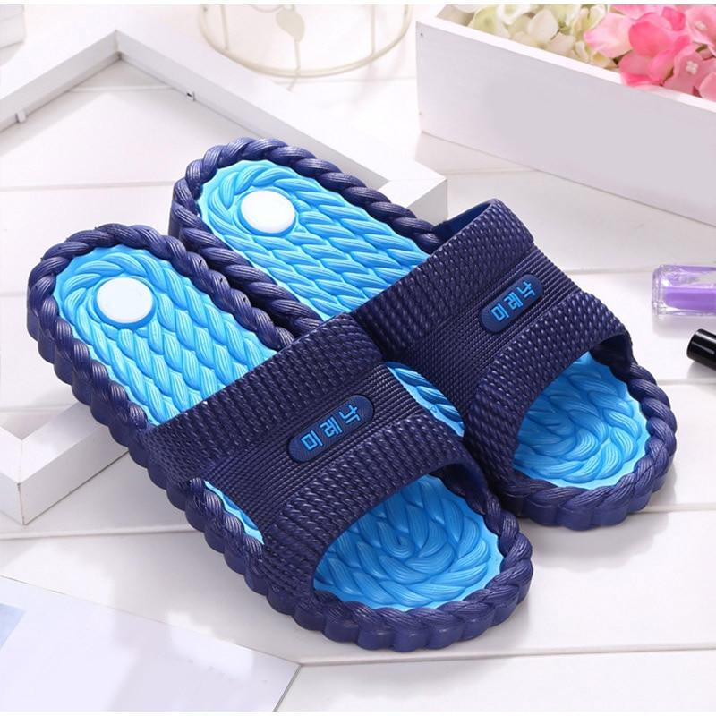 Women Summer Casual Slippers Candy Flat Non-slip Platform Slides Men Jelly Bathroom Shoes Soft Bottom Female Fashion Slippers