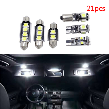 21 Pcs/Set WHITE LED Reading Lamp Car Interior Lights Replacement Package Kit for BMW 5 Series M5 E60 E61 Auto LED Bulb 1 set wiper blades for bmw 5 series e60