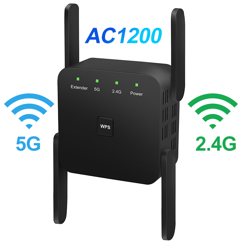 5GHz Wifi Repeater Wireless WiFi Extender 1200Mbps Repiter WiFi Signal Amplifier Wi-Fi Long Range Booster AC 2.4G 5G Ultraboost