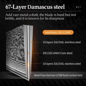 """Image 3 - XINZUO 6.5 """"dilimleme bıçağı şam paslanmaz çelik büyük cleraver bıçaklar yüksek kaliteli japon çelik şef bıçağı Rrosewood kolu"""