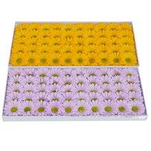 50Pcs/Set 7Cm Gerbera Soap Flower Sunflower Handmake Artificial Flower Head Wedding Decoration Diy Wreath Gift Daisy Flowers