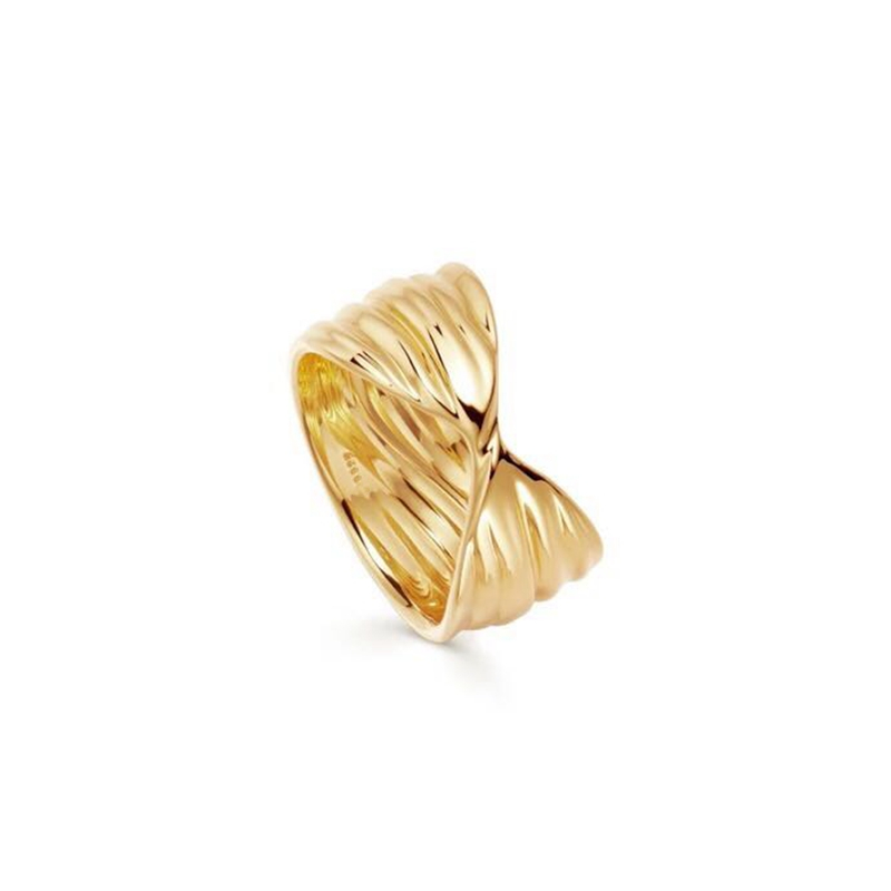 18ct altın kaplama 925 ayar gümüş haç halka hiçbir zirkon taş parmak yüzük istiflenebilir bayan tasarım kadın düğün takısı