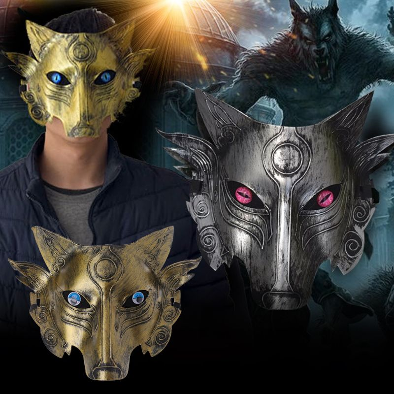 Werewolf Wolf Mask Masquerade Cosplay Props Movie Theme Halloween Party Supplies Y4UD
