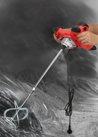 Endüstriyel sınıf mikser elektrikli hız kontrol el boya çimento sıva harcı kaplama mikser macun tozu karıştırma makinesi