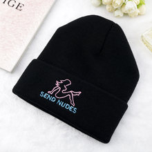Зимняя теплая шапка отправка nudes для женщин эластичная хлопковая