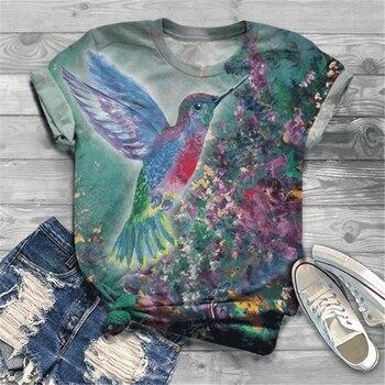 Printed Short Sleeve Women Summer T-shirt