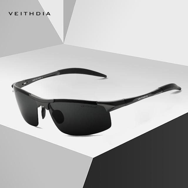 VEITHDIA Fashion Polarized Sunglasses Men Luxury Brand Designer Vintage Driving Sun Glasses For Men UV400 V6518