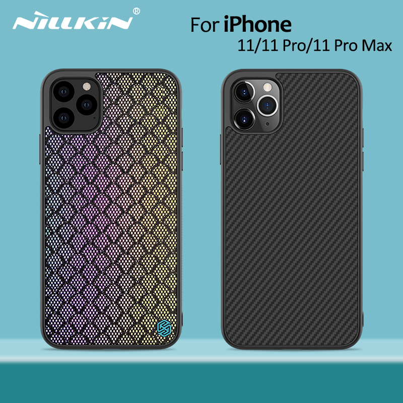 Nillkin Synthetic fiber Carbon Back Cover & Nylon for iPhone 11 case thin slim for iPhone 11 Pro case 5.8/6.1/6.5 For iPhone11