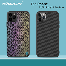 Nillkin fibre synthétique carbone couverture arrière et Nylon pour iPhone 11 étui mince pour iPhone 11 Pro étui 5.8/6.1/6.5 pour iPhone11