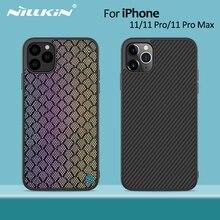Nillkin włókno syntetyczne Carbon Back Cover i Nylon dla iPhone 11 case cienki slim dla iPhone 11 Pro case 5.8/6.1/6.5 dla iPhone11