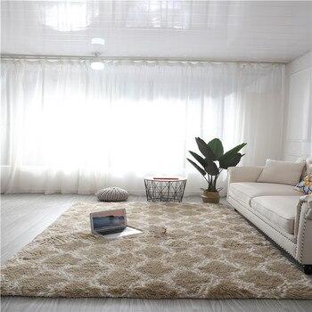 Alfombra Moderna y esponjosa Para La Sala de estar Alfombra tapiz nórdica...