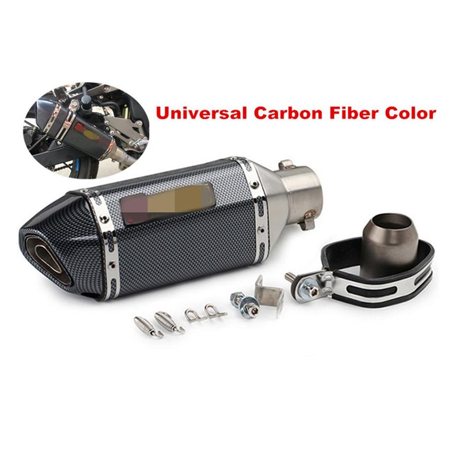 Motocicleta Universal ATV tubo silenciador de escape fibra de carbono Color Entrada de acero inoxidable 36 51mm con DB Killer para CB600 CBR300