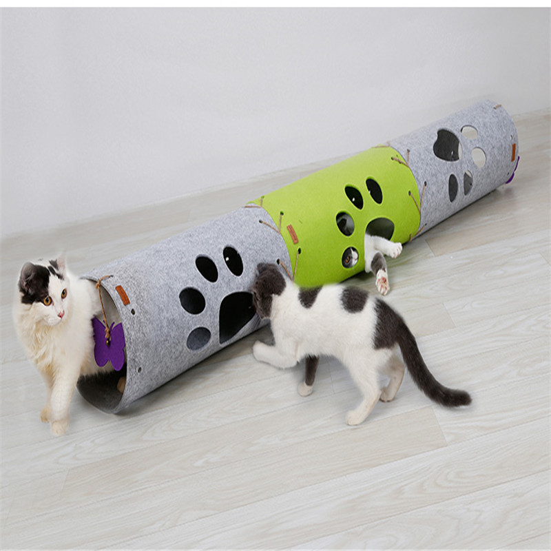 Dropshipping Pet Cat Tunnel Toys for Cat Kitten Collapsible Crinkle Cat Playing Tunnel Toy 4Color Funny Pet Tunnel Bulk Cat Cave image