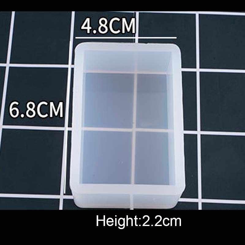 1PC Cube cuboïde pendentif collier à faire soi-même bijoux moule pendentifs cristal échelle bijoux résine moules pour outil de fabrication de bijoux