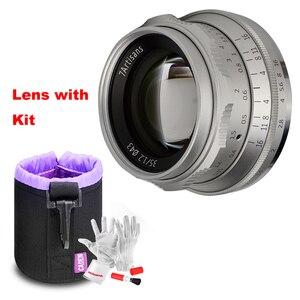 Image 2 - 7artisans lente Prime de 35mm F1.2 para Sony e mount/para Fuji XF APS C, lente fija de enfoque Manual para cámara sin espejo A6500 A6300 X A1