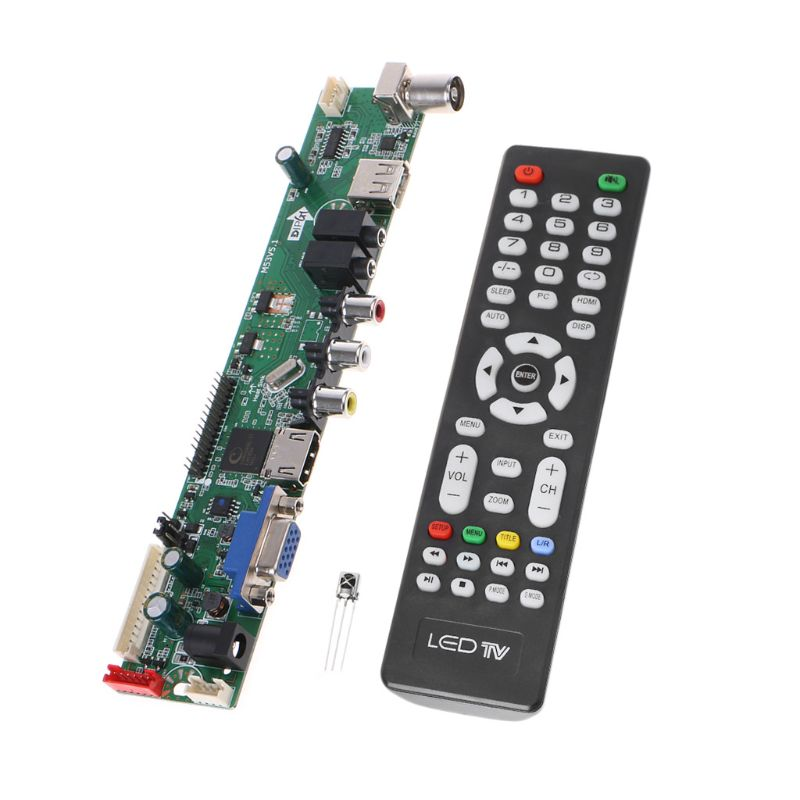 Universal LCD Controller Board Resolution TV Motherboard VGA/AV/TV/USB Interface Driver Board