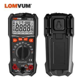 LOMVUM Digital Multimeter Tester LED NCV LCD Multitester Probes Voltage Meter Handheld AC DC Ammeter Ohm Capacitor Voltmeter dt 17n handheld digital multimeter lcd backlight manual portable auto range ad dc voltmeter ammeter ohm voltage test multimeter