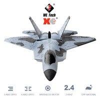 WLtoys-avión teledirigido XKS A180 de 3 canales, avión teledirigido de espuma con Motor sin escobillas 3D, 6G, modo acrobático volador para adultos y niños como avión de F-22A