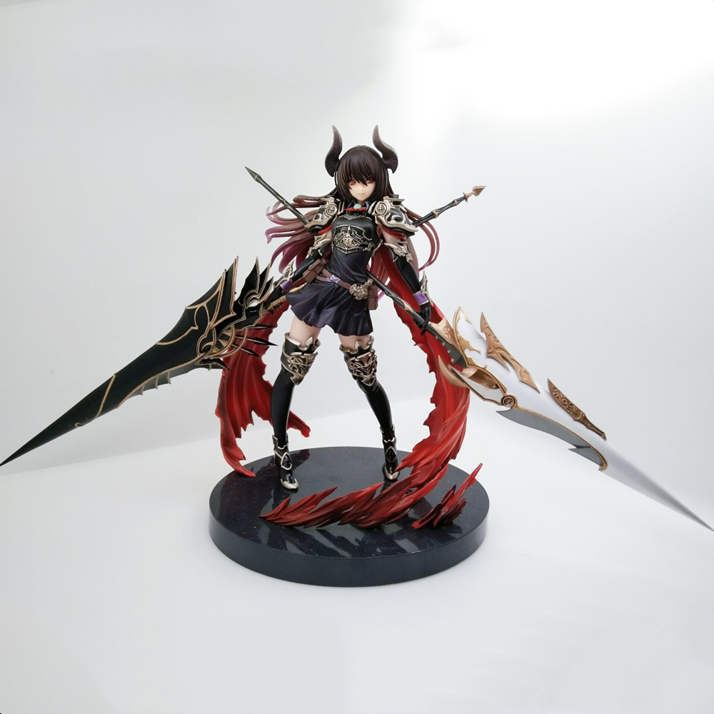 <font><b>Action</b></font> Rage of Bahamut GENESIS Devil Dark <font><b>Girl</b></font> Anime <font><b>Figure</b></font> Toys Model Brinquedos Knight PVC 1/8 Collector <font><b>Figures</b></font> Juguetes Doll image