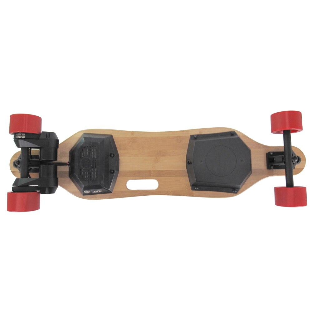 Electric Skateboard & Longboard T-Shade LED Lights 900 Watts Belts Dual Motors With Wireless Remote Controller Plate Board