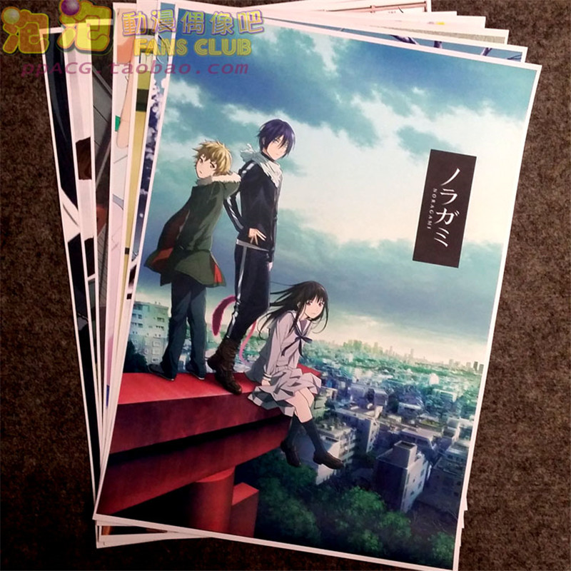 8 Pcs/set Anime Noragami Poster Iki Hiyori Nora Wall Pictures For Living Room A3 Film Posters For Gifts