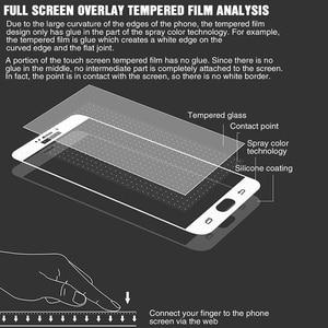 Image 5 - Vidrio Protector curvado para Samsung Galaxy A7 A3 A5 A6 A750 A8 2017 2018 J3 J5 J7 2016, cristal Protector de pantalla templado