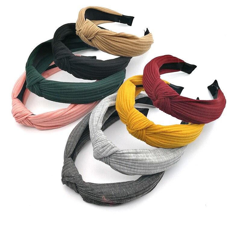 Hair Bands Womens Hair Bands  Lycra Hair Bands  Bow Knot Hair Bands CrossHair Bands Multiple Colors Hair Bands