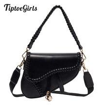 Tiptoegirls Fashion Bag Woven Leather Saddle Bag