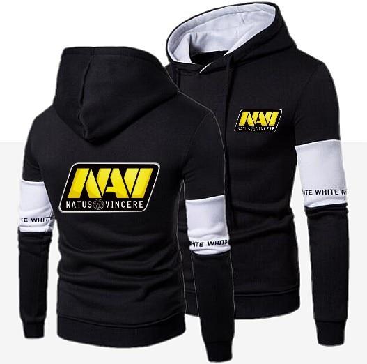 2020 Casual DOTA 2 Natus Vincere NAVI Men Fashion New Patchwork Hooded Sweatshirt Coat Mens Moletom Masculino Slim Sportswear