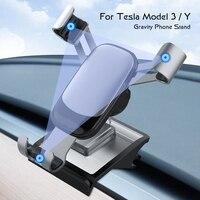 Für Tesla Modell 3 | Y Auto Zubehör Auto Telefon Halter Universal Mobile Halter Halterung in Model3 2021 Auto Luft steckdose Montieren
