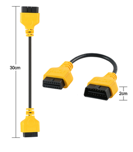 Image 5 - AUTOOL 16Pin 30cm כבל מאריך מחבר ELM327 OBD II OBD2 אוטומטי רכב כלי אבחון מתאם